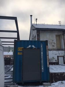 trojvrstvový nerezový komín - kontajner