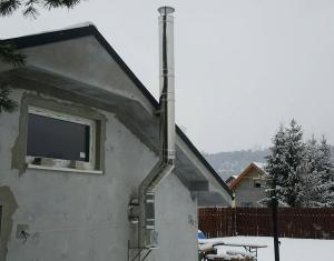 nový trojvrstvový nerezový komín - rodinný dom