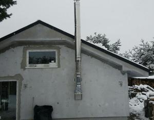 trojvrstvový nerezový komín pre rodinný dom