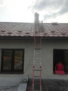 obnova komína - počas prác