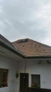 počas opravy komína